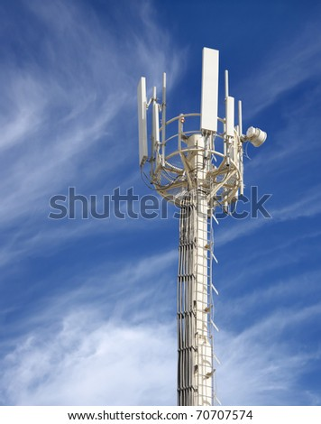 Close view of a Communication tower - stock photo