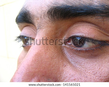 close view of a face - stock photo