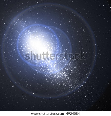Close view of a galaxy - stock photo