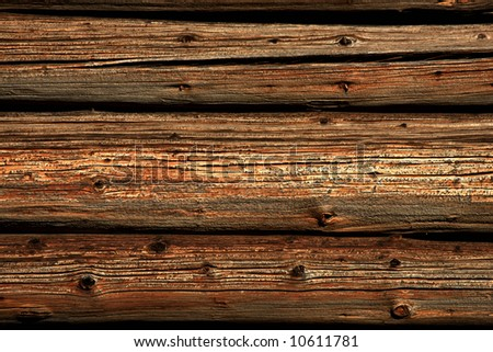 Close view of a rustical wood background - stock photo