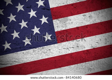 Close view of a vintage american flag illustration - stock photo