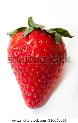 Close view of beautiful red strawberry.