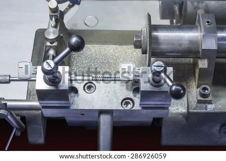Close view of key copying machine . - stock photo
