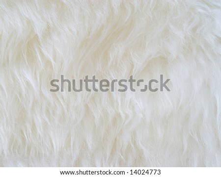 close view of white synthetic hair