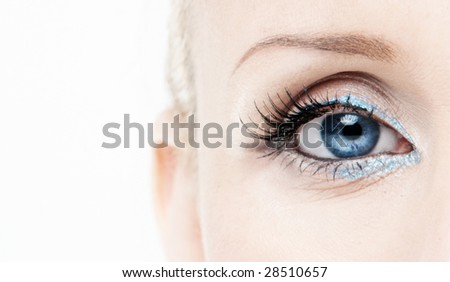 Close view of woman eye (shallow DOF)