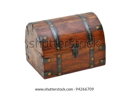 close wooden chest - stock photo