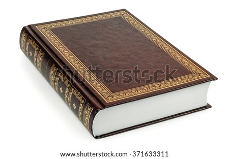 Closed book isolated on a white background - stock photo