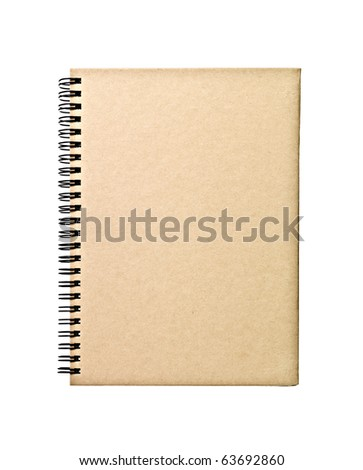 Closed book isolated on white background - stock photo