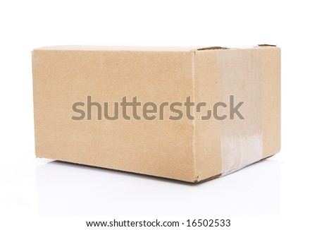 closed box isolated against white background - stock photo