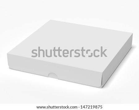Closed cardboard - stock photo