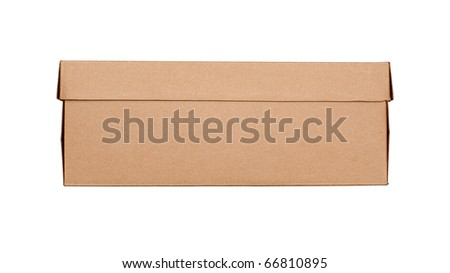 closed cardboard box isolated on white