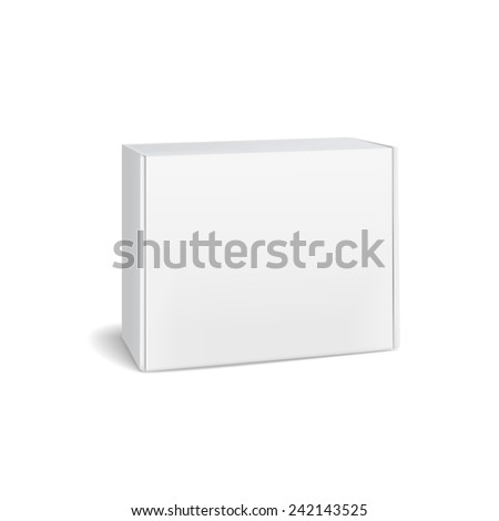 closed cardboard box isolated on white background - stock photo