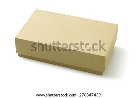 Closed Cardboard Packaging Box On White Background