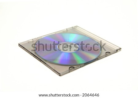 closed cd case with blank cd