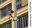 Closed Circuit TV video camera for security surveillance - stock photo
