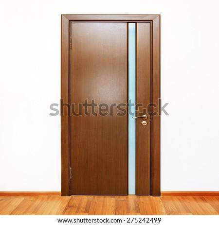 closed door - stock photo