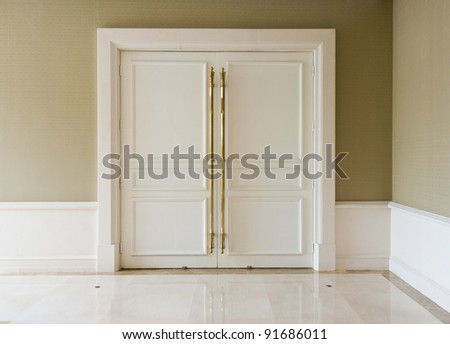 closed door in a luxury hotel. - stock photo