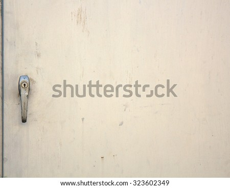 Closed door or Closed locker with grunge white background. - stock photo