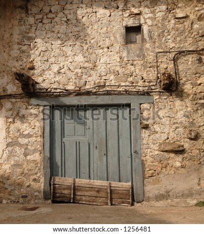 closed door - rural Spain