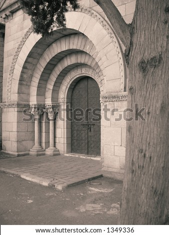 Closed Doors - stock photo