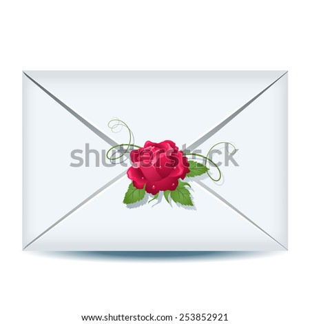 Closed envelope - stock photo