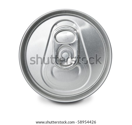 Closed frontal soft drink can