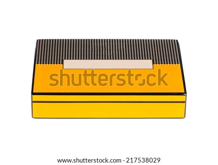Closed humidor. Isolated on the white background. - stock photo