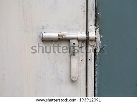 closed metal door - stock photo