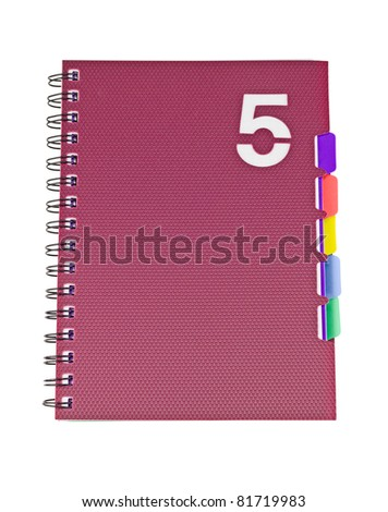 Closed office notebook isolated on the white background - stock photo