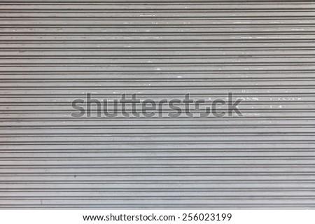 Closed overhead door background texture - stock photo