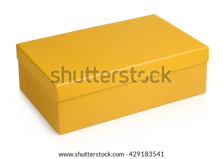 Closed Shoe box isolated on a white background. - stock photo