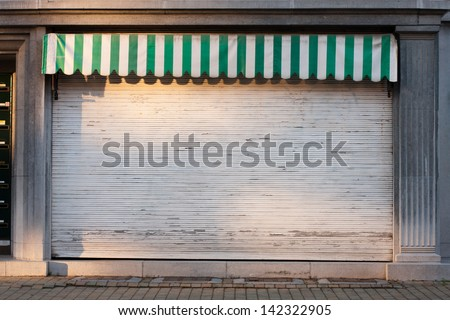 closed shop - stock photo