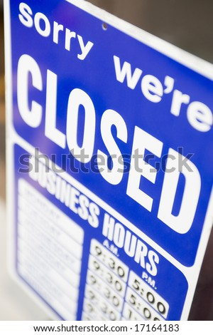 Closed Shop Sign - stock photo