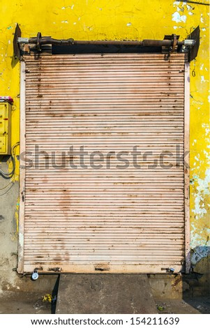 closed shops on Friday  in Jaipur, India. For Hindi people, Friday is the holy day of rest. - stock photo