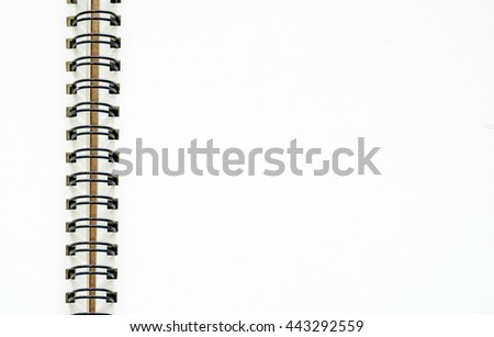 Closed up blank pages notebook