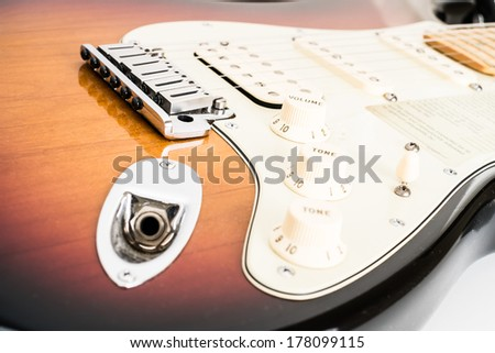 closed up guitar