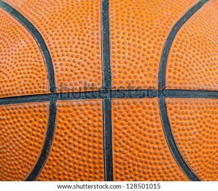 Closed up view of basketball - stock photo