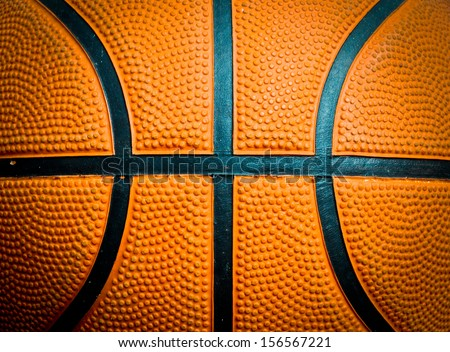 Closed up view of basketball for background - stock photo