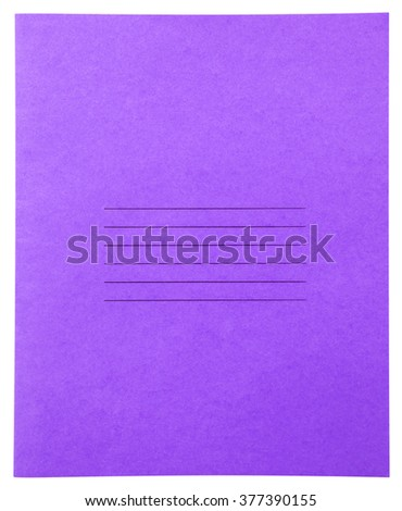 Closed violet notebook isolated on white background with clipping path - stock photo