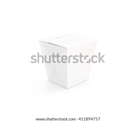 Closed White Blank Wok Box Mockup Stock Illustration 411894757 ...