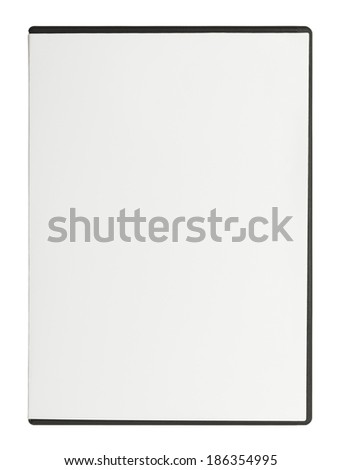 Closed White DVD Case with Copy Space Isolated on White Background. - stock photo