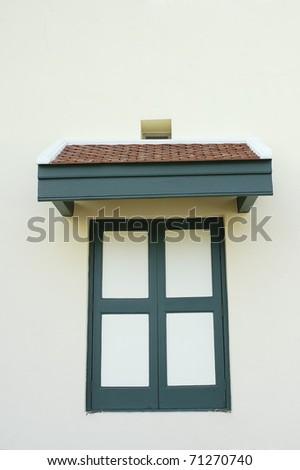 closed windows - stock photo
