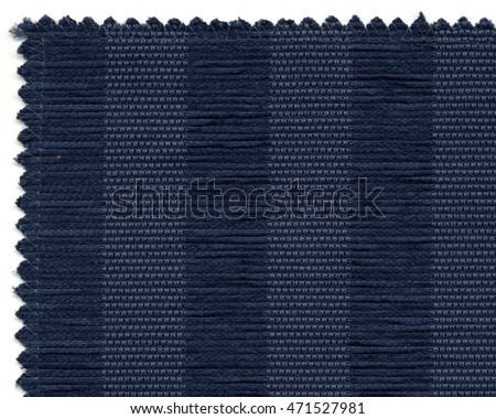 Closer image of textile sample on white background