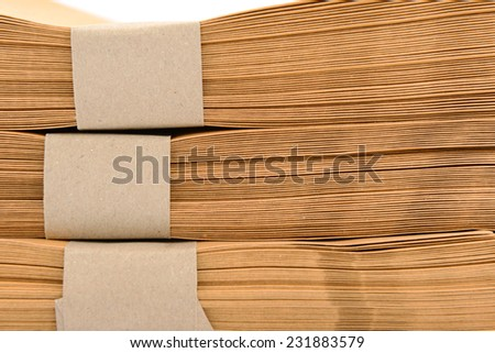 closeup ,a file folder with documents and documents. retention of contracts. - stock photo