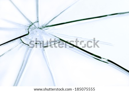 Closeup abstract shattered glass background - stock photo