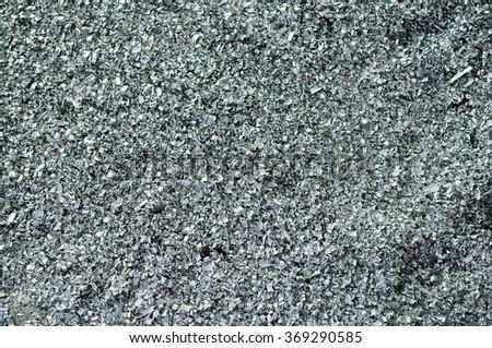 Closeup aluminium scrap texture or abstract background. - stock photo