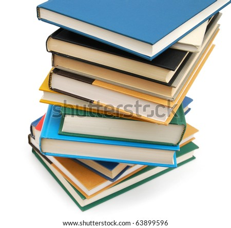 Closeup at studying's books