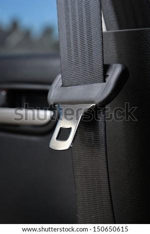 closeup automobile safety belt (seat belt) - stock photo