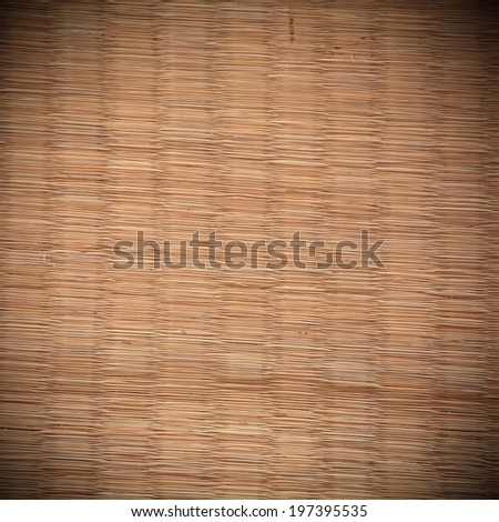 Closeup background of old Tatami mat texture - stock photo