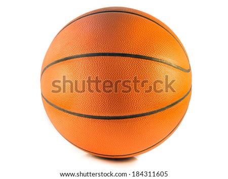 Closeup Basketball or Basket Ball isolate on white background - stock photo